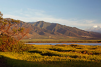 Kealia Pond is a favorite for bird watchers located in Kihei, Maui. In the distance are the West Maui Mountains.