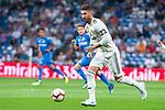Real Madrid Sergio Ramos during La Liga match between Real Madrid and Getafe CF at Santiago Bernabeu in Madrid, Spain. August 19, 2018. (ALTERPHOTOS/Borja B.Hojas)