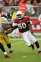 10/23/11 Glendale, AZ: Arizona Cardinals linebacker O'Brien Schofield #50 during an NFL game played at University of Phoenix Stadium between the Arizona Cardinals and the Pittsburgh Steelers. The Steelers defeated the Cardinals 32-20.