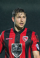 Goal scorer Shaun Miller of Morecambe during the Sky Bet League 2 match between Wycombe Wanderers and Morecambe at Adams Park, High Wycombe, England on 2 January 2016. Photo by Andy Rowland / PRiME Media Images