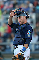 Adam Martin #31 of the Everett AquaSox during a game against the Boise Hawks at Everett Memorial Stadium on July 25, 2014 in Everett, Washington. Everett defeated Boise, 2-1. (Larry Goren/Four Seam Images)