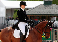 LEXINGTON, KY - April 27, 2017. #16 P S Arianna and Madeline Backus from the USA finish in 22nd place on the first day of Dressage at the Rolex Three Day Event at the Kentucky Horse Park.  Lexington, Kentucky. (Photo by Candice Chavez/Eclipse Sportswire/Getty Images)