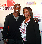 New England Patriots Devin McCourty and Mother Attend ESPN The Magazine's Eighth Annual Pre-Draft Party, at ESPACE Featuring Music Provided by ?uestLove, New York 4/27/11