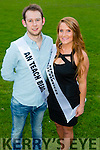 Patrick Kelly and Claire O'Brien  contestants at the Austin Stacks GAA club Launch of Strictly Come Dancing 2015 at the Festival Dome on Saturday 22nd  August at 8pm