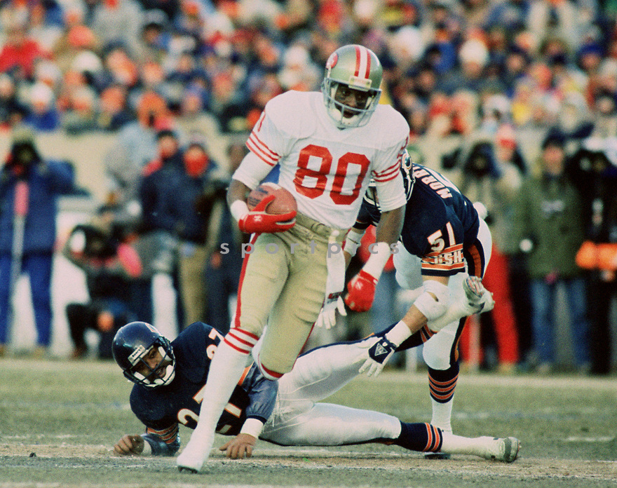2a993642615 San Francisco 49ers Jerry Rice (80) during a game from his 1989 season with