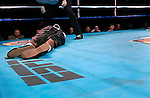 Roberto Carlos is unconscious on the canvas after being knocked down by Demetrius Hopkins during their Welterweight Fight at the Fernwood Resort in Bushkill Pennsylvania on October 24, 2003.&amp;#xA;Hopkins won by a 5th round KO<br />