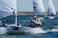 Laser/ Agata BARWINSKA (POL)<br /> ISAF Sailing World Cup Final - Melbourne<br /> St Kilda sailing precinct, Victoria<br /> Port Phillip Bay Wednesday 7 Dec 2016<br /> &copy; Sport the library / Jeff Crow
