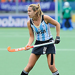 The Hague, Netherlands, June 14: Daniela Sruoga #18 of Argentina looks on during the field hockey bronze medal match (Women) between USA and Argentina on June 14, 2014 during the World Cup 2014 at Kyocera Stadium in The Hague, Netherlands. Final score 2-1 (2-1)  (Photo by Dirk Markgraf / www.265-images.com) *** Local caption ***
