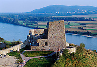 Ruins of Devin castle on the Danube river. The most important historical site in Slovakia. 1031501. Devin, Slovakia.