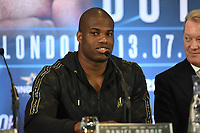 Daniel Dubois during a Press Conference at Intercontinental Hotel O2 on 5th June 2019