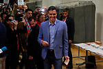 Spain's Prime Minister and Socialist Workers' Party (PSOE) candidate Pedro Sanchez prepares to cast his vote during Spain's general election in Pozuelo de Alarcon, outside Madrid, Spain, April 28, 2019. Alterphotos / David Lamas