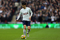 Son Heung-Min of Tottenham Hotspur during Tottenham Hotspur vs Arsenal, Premier League Football at Wembley Stadium on 10th February 2018