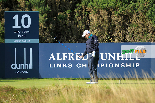 Shane Lowry (IRL) during Round 1of the Alfred Dunhill Links Championship at Kingsbarns Golf Club on Thursday 26th September 2013.<br /> Picture:  Thos Caffrey / www.golffile.ie