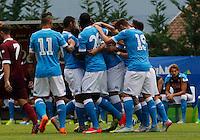 Esultanza durante l'amichevole precampionate tra Napoli e Cittadella   Dimaro 29 Luglio 2015<br /> <br /> Friendly soccer match between   SSC Napoli  in Dimaro Italy July 28, 2015