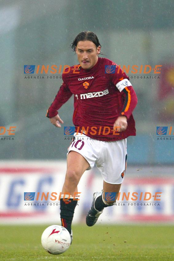 Roma 18/1/2004<br /> Roma Sampdoria 3-1<br /> Francesco Totti (Roma)<br /> Foto Andrea Staccioli Insidefoto