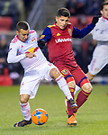 New York Red Bulls midfielder Alejandro Romero Gamarra (10) keeps the ball from Real Salt Lake forward Jefferson Savarino (7) in the first half Saturday, March 17, 2018, during the Major League Soccer game at Rio Tiinto Stadium in Sandy, Utah. (© 2018 Douglas C. Pizac)