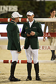 29th September 2017, Real Club de Polo de Barcelona, Barcelona, Spain; Longines FEI Nations Cup, Jumping Final; ALLEN Bertram, BREEN Shane (IRL) before the final of Nations Cup