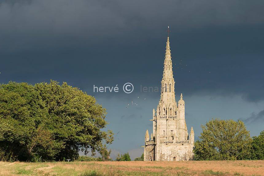 France, Morbihan (56), Pluméliau, chapelle Saint Nicodème // France, Morbihan, Plumeliau, chapel Saint Nicodeme
