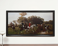 "ROLLED RENTAL: Thoren: The Steeplechase, Digital Print, Framed Dimensions: 45""H x 85""W x 2""D"