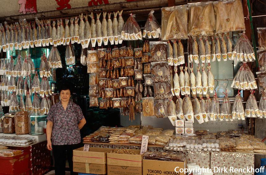 China, Macao, Trockenfisch