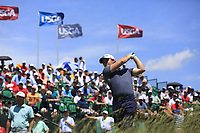 Eddie Pepperell (ENG) tees off the 1st tee to start his match during Thursday's Round 1 of the 117th U.S. Open Championship 2017 held at Erin Hills, Erin, Wisconsin, USA. 15th June 2017.<br /> Picture: Eoin Clarke | Golffile<br /> <br /> <br /> All photos usage must carry mandatory copyright credit (&copy; Golffile | Eoin Clarke)