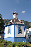 Alaska, Juneau: St. Nicholas Russian Orthodox Church. .Photo #: alaska10099 .Photo copyright Lee Foster, 510/549-2202, lee@fostertravel.com, www.fostertravel.com..