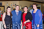 Cromane Rowing Club members  at the Kerry Sports awards show in the Gleneagle Hotel on Friday night l-r: Molly McCarthy, Karl McCArthy, Mary McCarthy and Johanna King