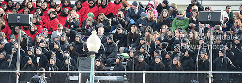 The PS22 Chorus from Public School 22 in Graniteville, Staten Island, New York perform prior to United States President Barack Obama taking the oath of office during the public swearing-in ceremony at the U.S. Capitol in Washington, D.C. on Monday, January 21, 2013..Credit: Ron Sachs / CNP.(RESTRICTION: NO New York or New Jersey Newspapers or newspapers within a 75 mile radius of New York City)