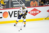 May 31, 2017: Nashville Predators center Colton Sissons (10) looks to pass during game two of the National Hockey League Stanley Cup Finals between the Nashville Predators  and the Pittsburgh Penguins, held at PPG Paints Arena, in Pittsburgh, PA. The Penguins defeat the Predators 4-1 and lead the series 2-0. Eric Canha/CSM