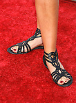 """Singer India Dupre 's shoes at The Los Angeles Premiere of """"Vicky Cristina Barcelona"""" at the Mann Village Theatre on August 4, 2008 in Westwood, California."""