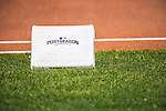 7 October 2016: A Postseason Base lies ready to be installed at first base prior to the first game of the NLDS between the Washington Nationals and the Los Angeles Dodgers at Nationals Park in Washington, DC. The Dodgers edged out the Nationals 4-3 to take the opening game of their best-of-five series. Mandatory Credit: Ed Wolfstein Photo *** RAW (NEF) Image File Available ***