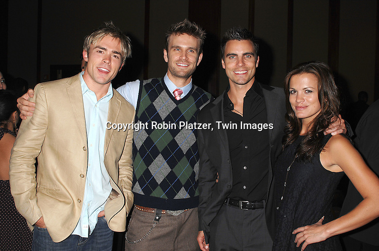 John-Paul Lavosier, John Brotherton, Colin Egglesfield..and Melissa Claire Egan..at The Feast with Famous Faces 2007 Gala benefitting..The League for the Hard of Hearing on October 22, 2007 at Pier Sixty at Chelsea Piers. ..Robin Platzer, Twin Images