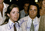 CARRIE FISHER AND HER HUSBAND/<br />MUSICIAN PAUL SIMON  ATTEND THE OPENING<br />NIGHT PERFORMANCE OF GILDA RADER LIVE AT<br />THE WINTER GARDEN THEATER, 1979, NYC.