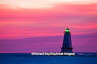 64795-01013 Ludington North Pierhead Lighthouse at sunset on Lake Michigan, Mason County, Ludington, MI