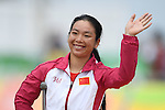 Sini Zeng (CHN), <br /> SEPTEMBER 16, 2016 - Cycling - Road : <br /> Women's Road Race C1-2-3 Medal Ceremony <br /> at Pontal <br /> during the Rio 2016 Paralympic Games in Rio de Janeiro, Brazil.<br /> (Photo by AFLO SPORT)
