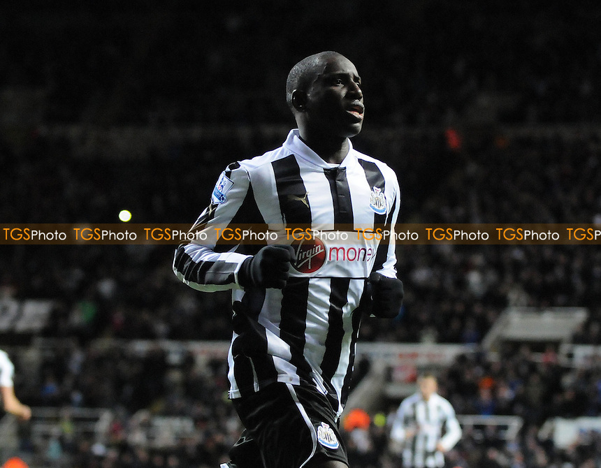 Newcastle United's Demba Ba celebrates scoring, making it 1-0 - Newcastle United vs Wigan Athletic - Barclays Premier League Football at St James Park, Newcastle, Tyne & Wear - 03/12/12 - MANDATORY CREDIT: Steven White/TGSPHOTO - Self billing applies where appropriate - 0845 094 6026 - contact@tgsphoto.co.uk - NO UNPAID USE.