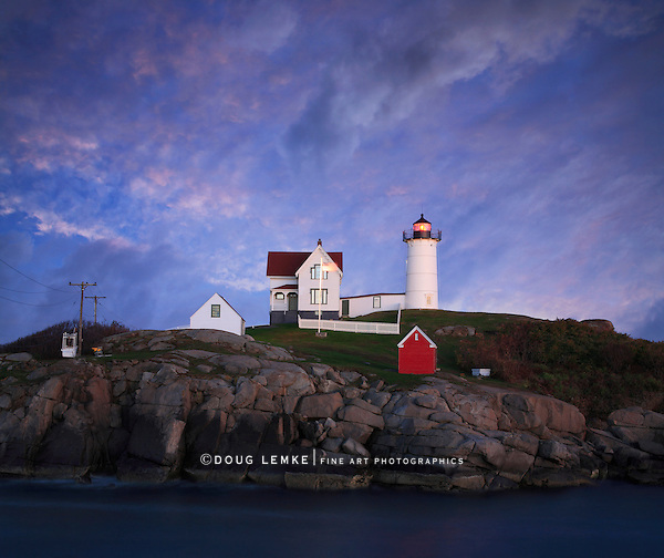 A Truly Gorgeous Sunset At The Nubble Light, Cape Neddick, Maine, USA