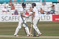 Alastair Cook (L) and Nick Browne enjoy a century partnership for Essex during Essex CCC vs Somerset CCC, Specsavers County Championship Division 1 Cricket at The Cloudfm County Ground on 25th June 2018
