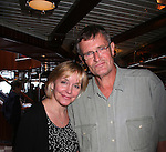Britt (Robert Newman's wife) and Jordan Clarke - Day 5, August 4, 2010 - So Long Springfield at Sea - A Final Farewell To Guiding Light sets sail from NYC to St. John, New Brunwsick and Halifax, Nova Scotia from July 31 to August 5, 2010  aboard Carnival's Glory (Photos by Sue Coflin/Max Photos)