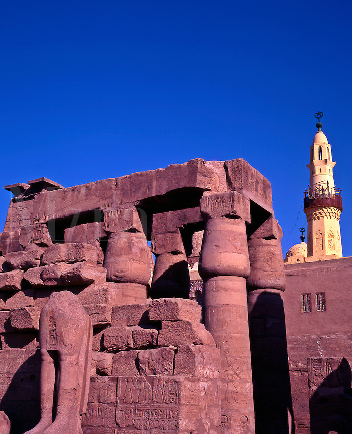 Egypt. Temple of Luxor and Mosque of Abu el Haggag.