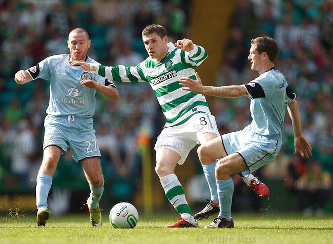 Gary Hooper with Paddy Cregg and Hugh Murray