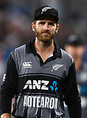 8th February 2019, Eden Park, Auckland, New Zealand;  Kane Williamson at the end of the match.<br />