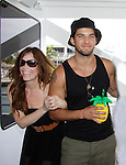 Melissa Archer, Bryan Craig donated time at 15th Southwest Florida Soapfest 2014 Charity Weekend - at Cruisin' and Schmoozin' on May 25, 2104 aboard the Marco Island Princess (boat), Marco Island, Florida.  (Photo by Sue Coflin/Max Photos)