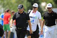 Mikko Korhonen (FIN) and Justin Walters (RSA) during the final round of the Shot Clock Masters played at Diamond Country Club, Atzenbrugg, Vienna, Austria. 10/06/2018<br /> Picture: Golffile | Phil Inglis<br /> <br /> All photo usage must carry mandatory copyright credit (&copy; Golffile | Phil Inglis)