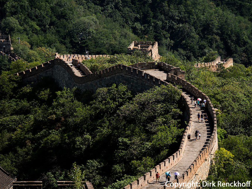 Gro&szlig;e Mauer bei Mutianyu, Peking, China, Asien, UNESCO-Weltkulturerbe<br />  Great Wall at Mutianyu, China, Asia, world heritage