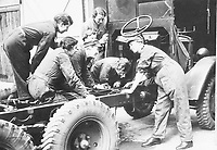 BNPS.co.uk (01202 558833)<br /> Pic: Pen&Sword/BNPS<br /> <br /> PICTURED: Vehicle maintenance training<br /> <br /> These inspiring photos of nurses on the front line feature in a new book which charts a century's heroic wartime service.<br /> <br /> The First Aid Nursing Yeomanry (FANY) was founded in 1907 by Captain Edward Baker with the early recruits trained in cavalry, signalling and camping.<br /> <br /> They were despatched to France at the outset for World War One to tend to injured troops on the battlefield, setting up hospitals for the many casualties. Other heroines dragged wounded personnel from exploding ammunition dumps.<br /> <br /> The brave nurses were again in the centre of the action in World War Two, performing sterling work in the harshest of conditions.<br /> <br /> Their stories feature in The First Aid Nursing Yeomanry in War and Peace, by Hugh Popham.