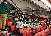 UVM's lacrosse team was in attendance to cheer on their hockey team while in the area for a tournament on the South Shore. - The visiting University of Vermont Catamounts defeated the Northeastern University Huskies 6-2 on Saturday, October 11, 2014, at Matthews Arena in Boston, Massachusetts.