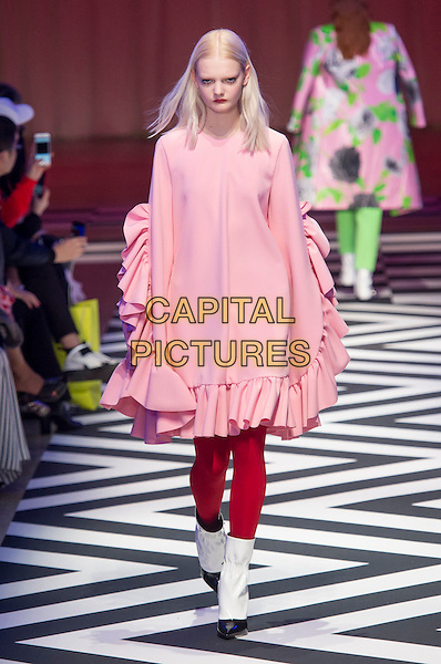 MSGM<br /> at Milan Fashion Week FW 17 18<br /> in Milan, Italy  February 2017.<br /> CAP/GOL<br /> &copy;GOL/Capital Pictures