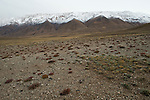 Alpine valley and mountain range, Sarychat-Ertash Strict Nature Reserve, Tien Shan Mountains, eastern Kyrgyzstan