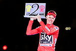 Christopher Froome (GBR) Team Sky makes history by winning Le Tour de France and La Vuelta in succession since moving to it's Autumn slot, at the end of the final Stage 21 of the 2017 La Vuelta, running 117.6km from Arroyomolinos to Madrid, Spain. 10th September 2017.<br /> Picture: Unipublic/&copy;photogomezsport | Cyclefile<br /> <br /> <br /> All photos usage must carry mandatory copyright credit (&copy; Cyclefile | Unipublic/&copy;photogomezsport)